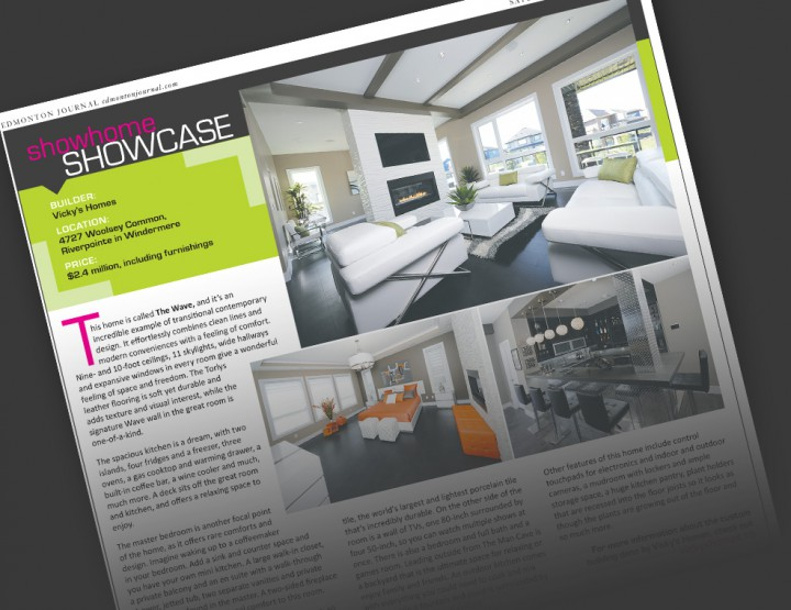 Vicky's Homes Featured in Edmonton Journal