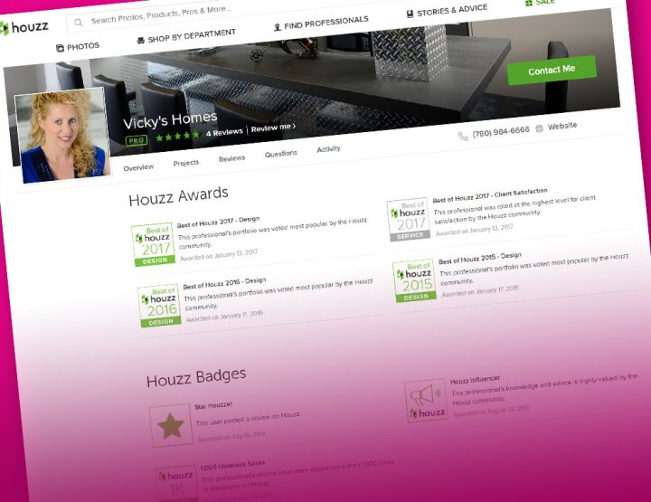 Vicky's Homes is Houzz Proud